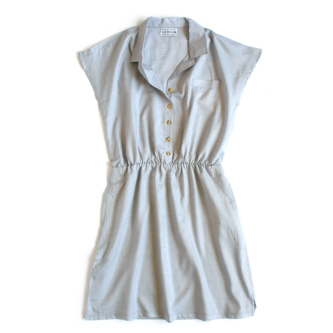 COLLARED POCKET DRESS